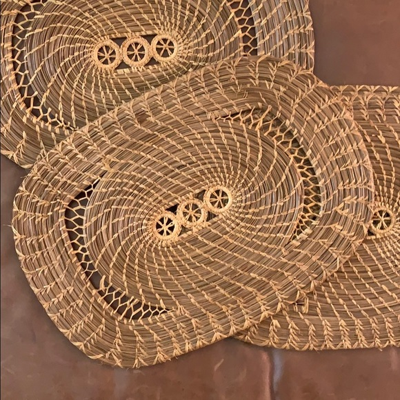 Vintage Boho Wicker Placemats (4)
